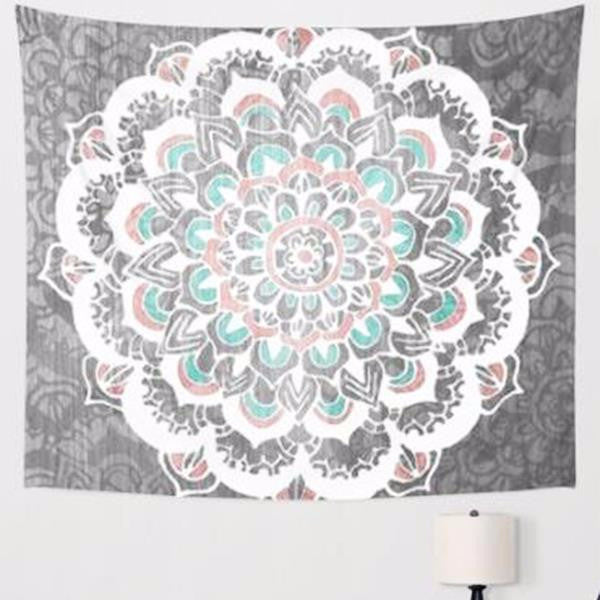 Ash Ice Mandala Tapestry Wall Hanging Decorative - infinity owl