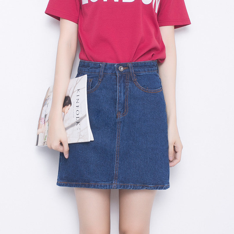 Ruby Denim A Line Skirt