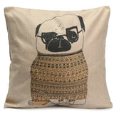Daddy Pug Pillow Case - infinity owl
