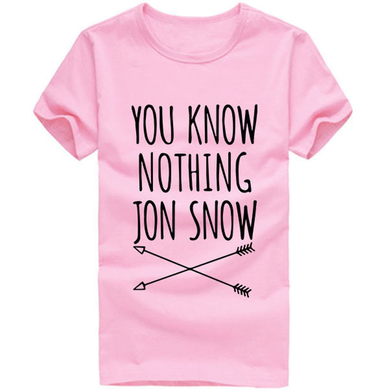 You Know Nothing Jon Snow Graphic Tee