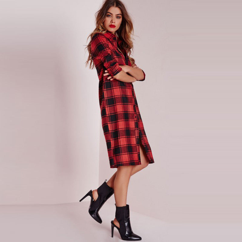 Rachel Flannel Casual Dress