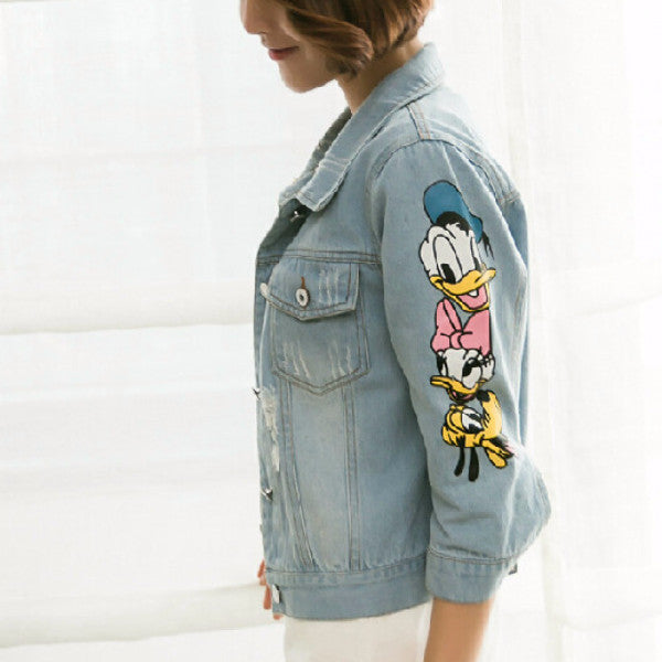 Daisy Duck Denim Jacket - infinity owl