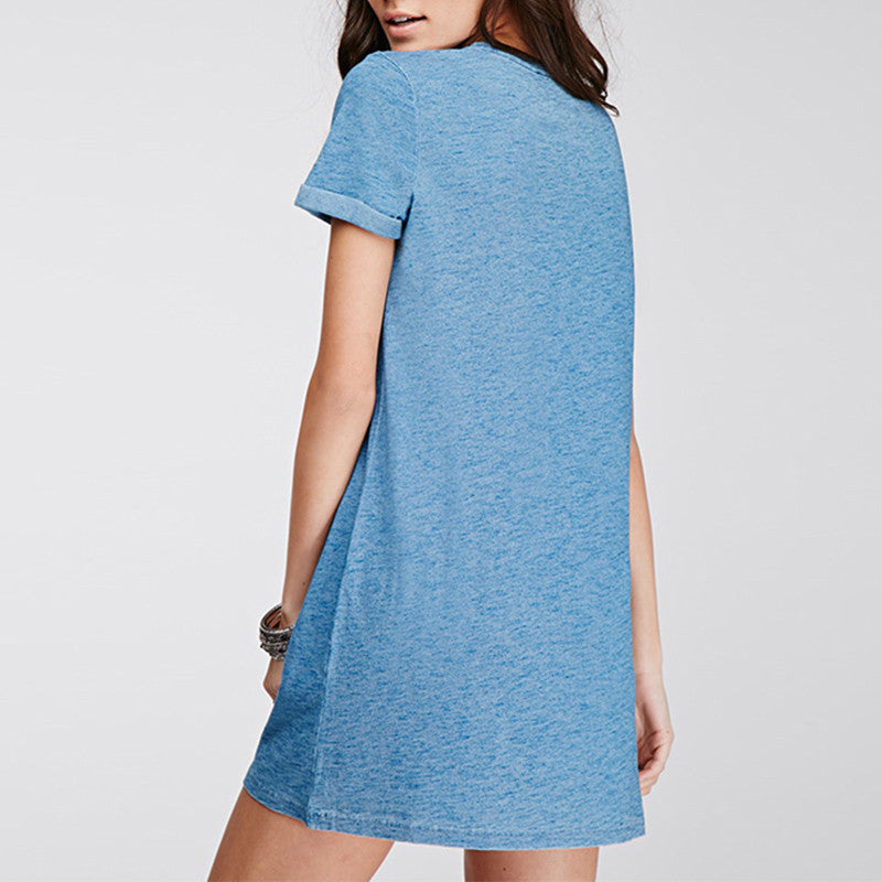 Vayn Denim Pocket Dress