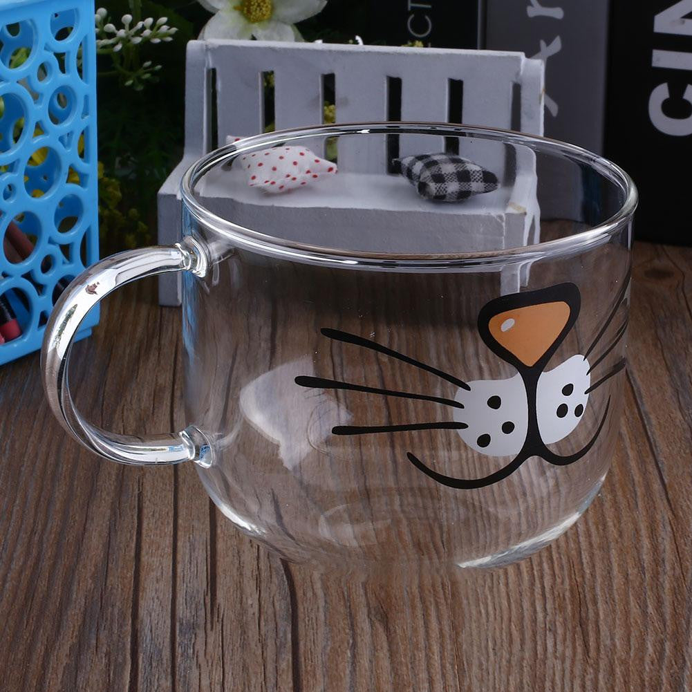 Cat Glass Coffee Mug - infinity owl