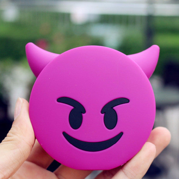 8800mAh Evil Emoji Power Bank - infinity owl