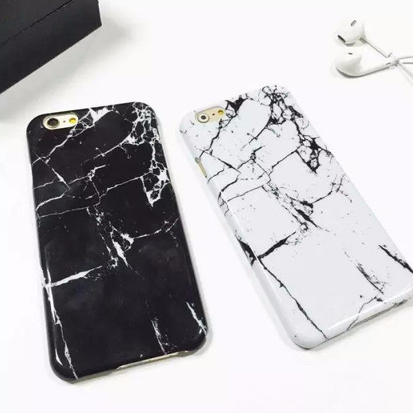 Black and White Marble Surface Phone Cases - infinity owl