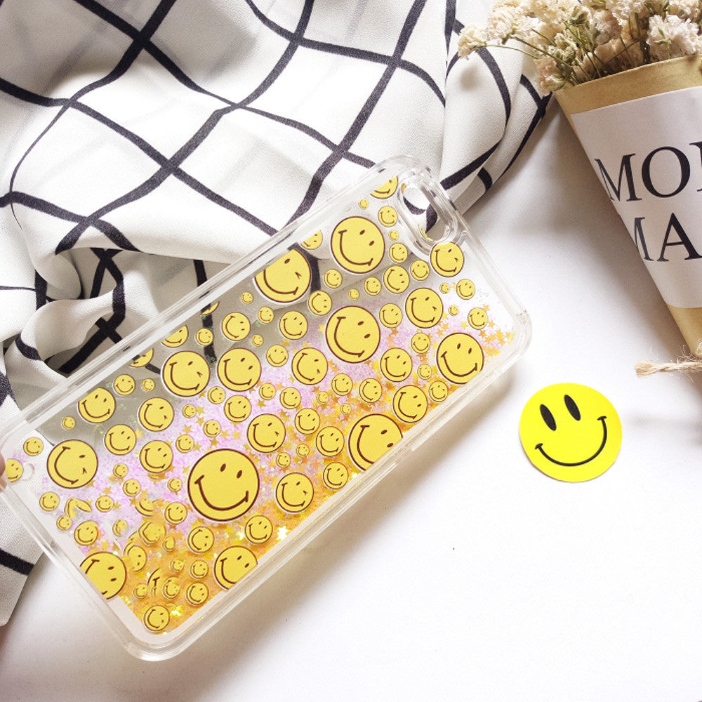 Be Happy Smiley Face Glitter Phone Case - infinity owl