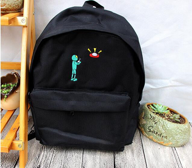 Alien Space Ship Backpack - infinity owl