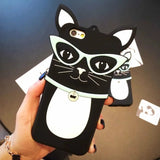 Sunglasses Cat kitty silicon 3d Case