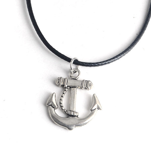 Anchor Necklace - infinity owl