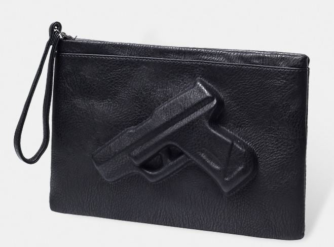 I Have A Gun Hand Purse - infinity owl