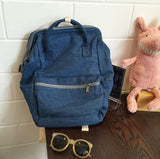 Jocelyn Washed Denim Tow Way Backpack