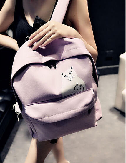 F U Funny Cat Backpack