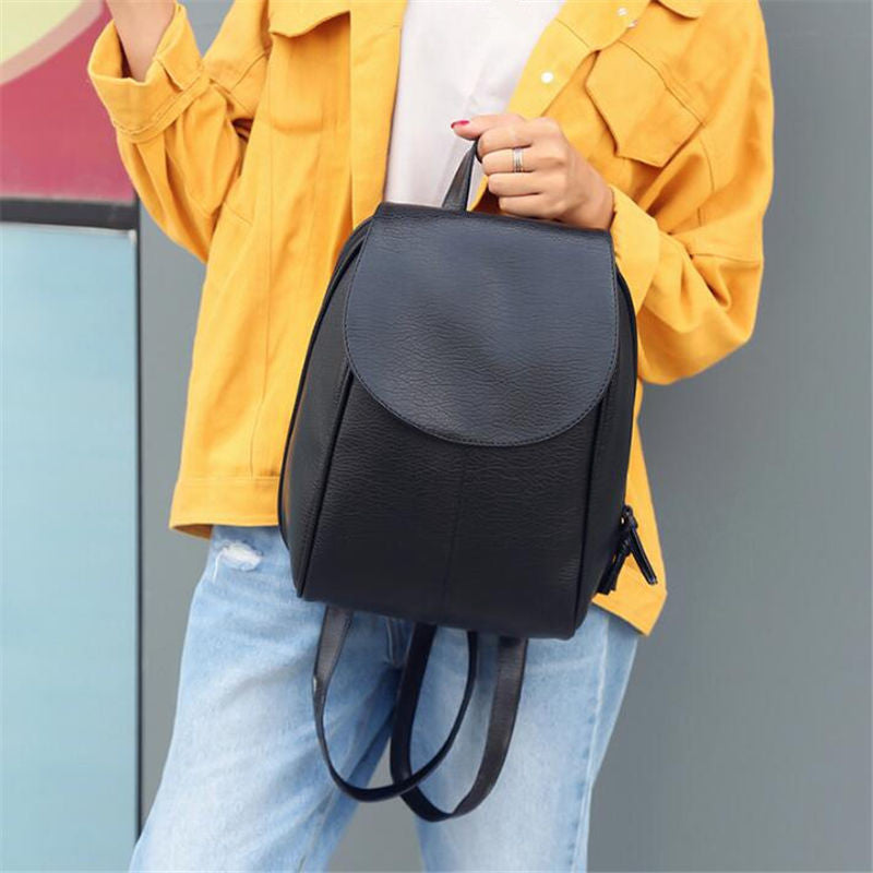 Wendy Black Soft Leather Backpack