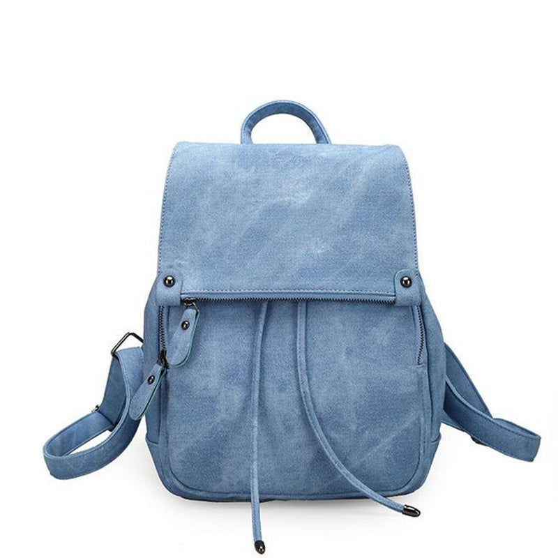 Cali Sueded Double Layers Backpack - infinity owl
