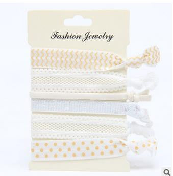 Lucy Cream Hair Ties Set