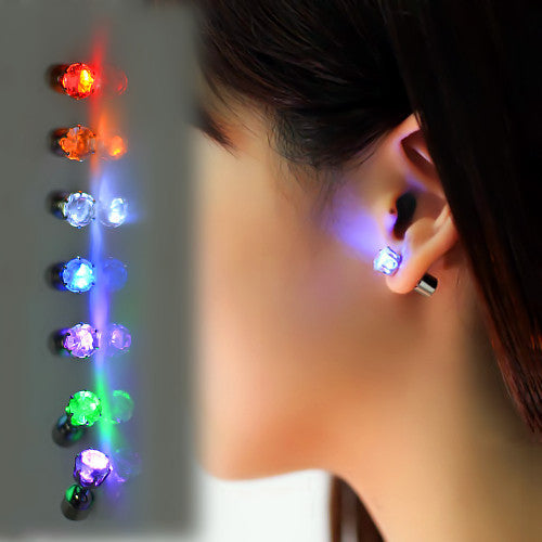 Glowing Earring Studs - infinity owl