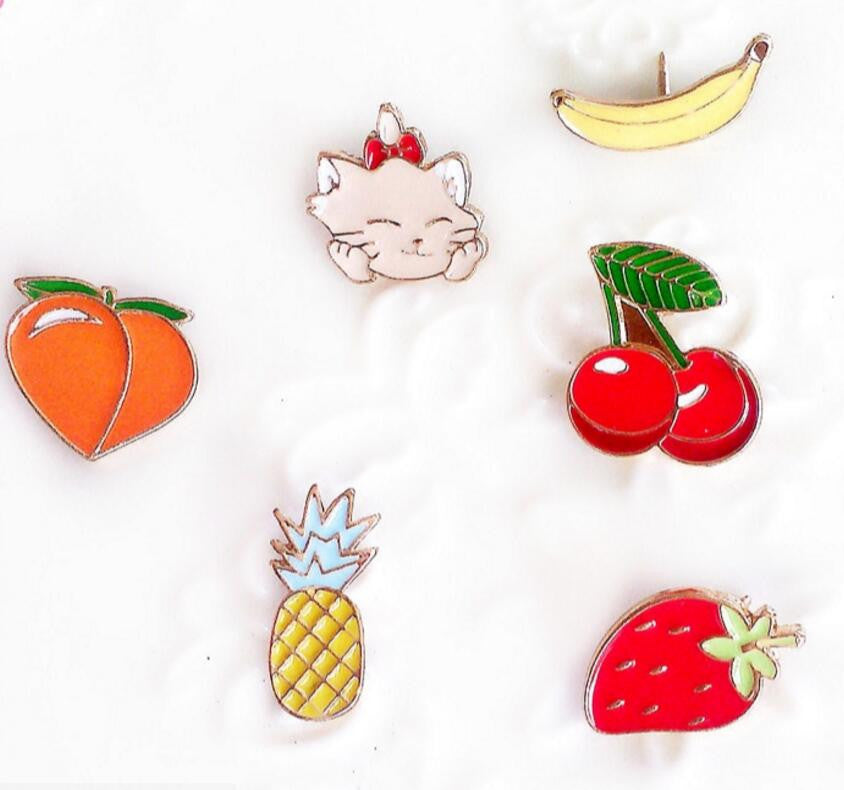Fruits and Cats Pins - infinity owl