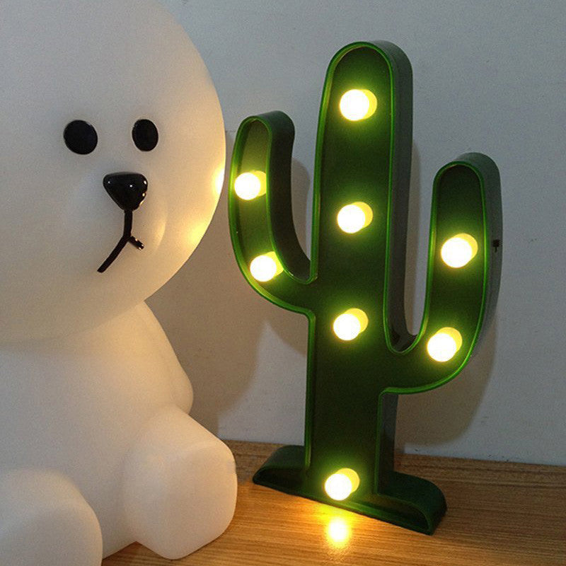 Cute Cactus Battery LED Light - infinity owl