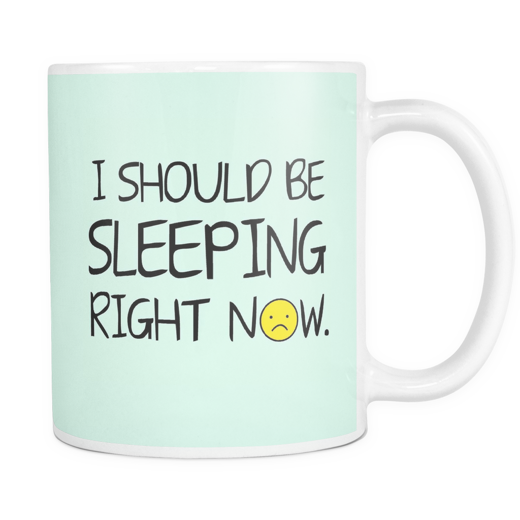 I Should Be Sleeping Right Now Mug - infinity owl