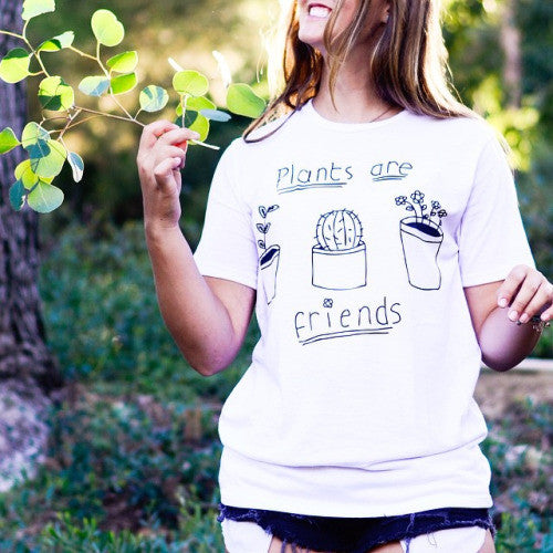 Plants Are Friends Graphic Tops
