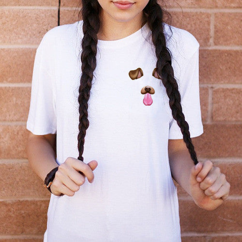 Doggy Face Graphic Tops - infinity owl