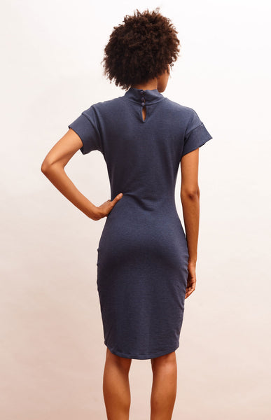Michelle Dress - Heather Blue