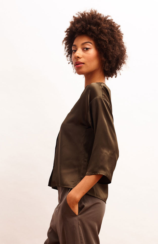 Ngozi Blouse - Forest