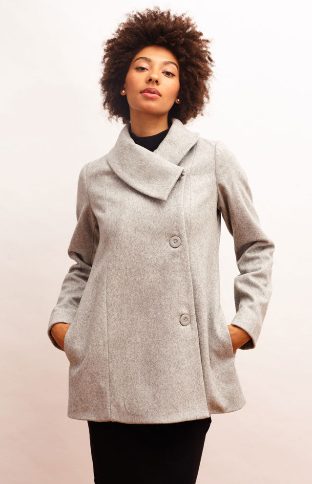 Zadie Coat - Pearl Gray