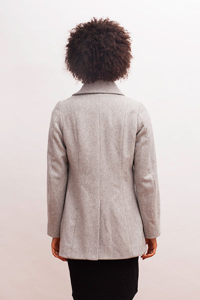Zadie Coat in Pewter