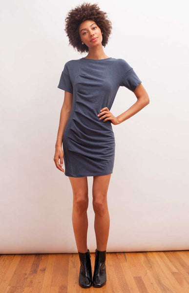 Naomi Dress - Heather Blue