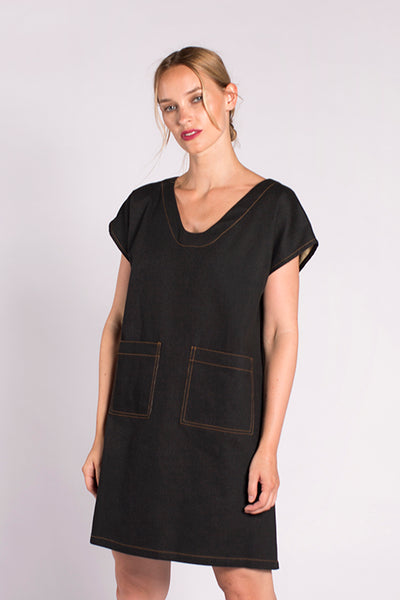 Nari Denim Dress - Black