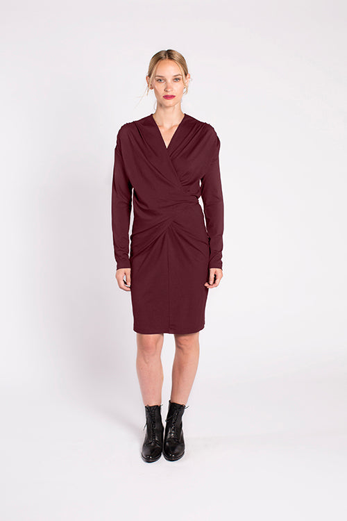 Jacqueline Dress in Malbec