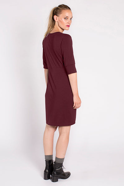 Devane Dress in Malbec