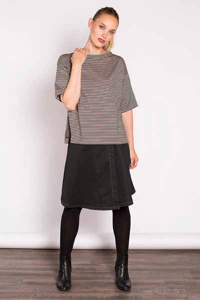 Georgina Top - Beige Stripe