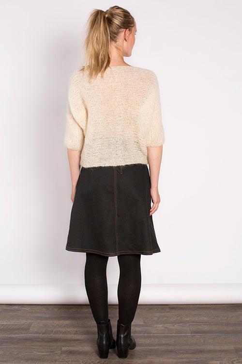 Kit Boatneck Sweater in Cream