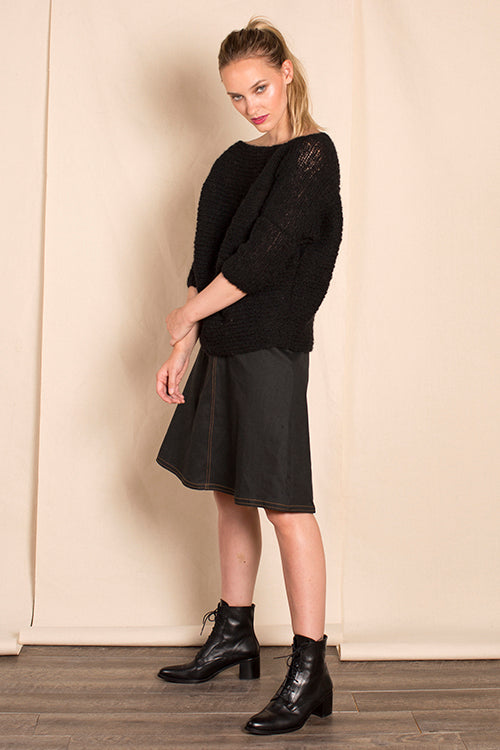 Kit Boatneck Sweater in Black
