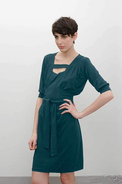 Yasmin Dress - Dark Pacific
