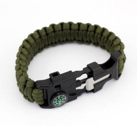 001 16 01 00 0001 Tactical Multifunction Paracord Survival Bracelet