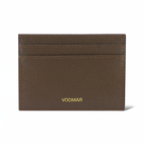 Brown Pebble-grain Leather Cardholder