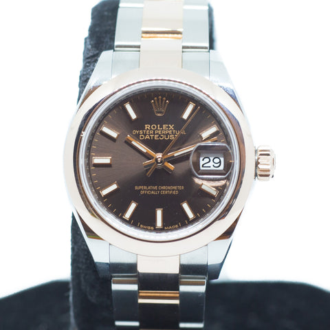 Like New Rolex Datejust Ladies in 18K Everose Gold Ref: 279161