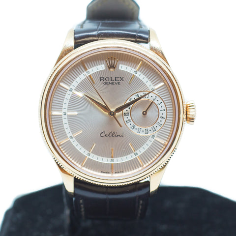Preowned Rolex Cellini in 18K Everose Gold Ref: 50515