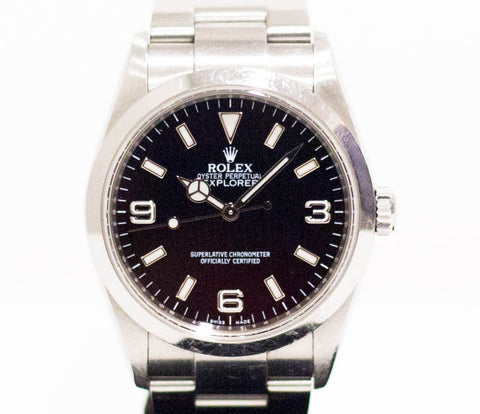 Preowned Rolex Explorer 1 w/ Chapter Ring 114270