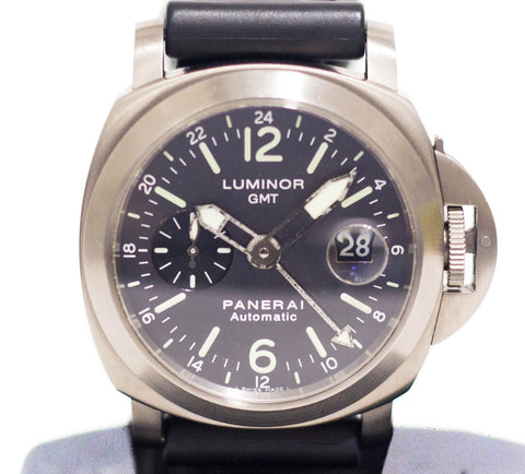 Preowned Panerai Luminor GMT Titanium Anthracite Dial PAM 89 D