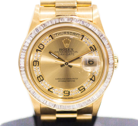 Preowned Rolex Day-Date in Yellow Gold 18238