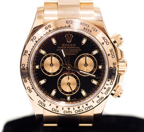 Preowned Rolex Daytona in Rose Gold 116505
