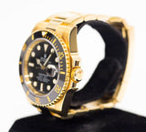 Preowned Rolex Submariner Ceramic in Yellow Gold 116618LN