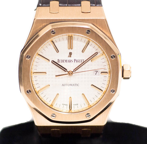 Preowned Audemars Piguet Royal Oak in Rose Gold Ref: 15400OR.OO.D088CR.01