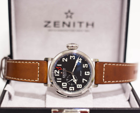 Brand New Zenith Elite Pilot Montre d'Aeronef Type 20 GMT Ref: 03.2430.693/21.C723