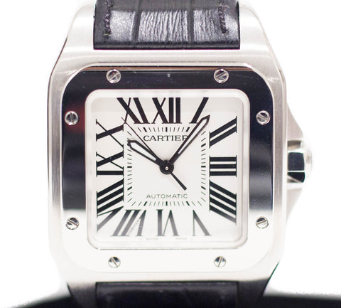 Preowned Cartier Santos 100 Mid Size Ref: W20106X8
